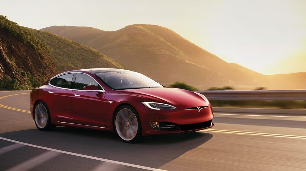 Red-sunset-Tesla-Model-S