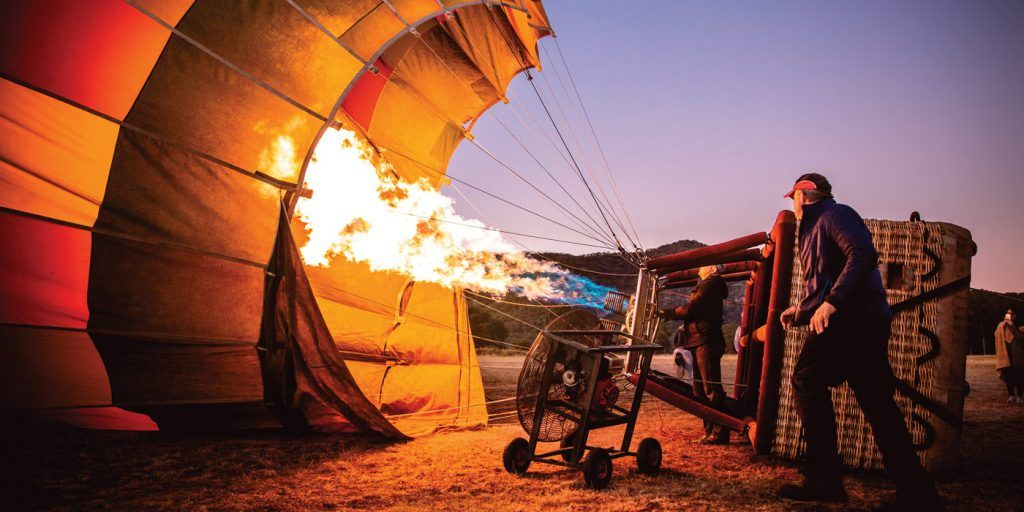 Flame-hot-air-balloon