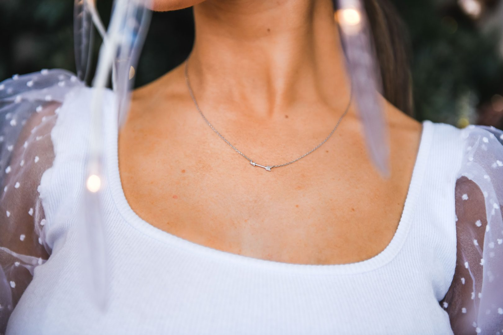 3. 'Demi Fine' Arrow Diamond Necklace (1)