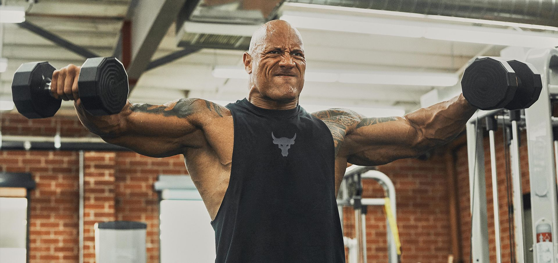 The-Rock-Dwayne-Johnson-wears-his-new-Under-Armour-Project-Rock-collection.